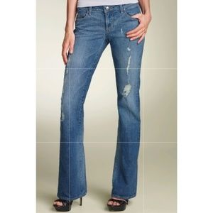 Paige Laurel Canyon Bootcut distressed jeans 30x34